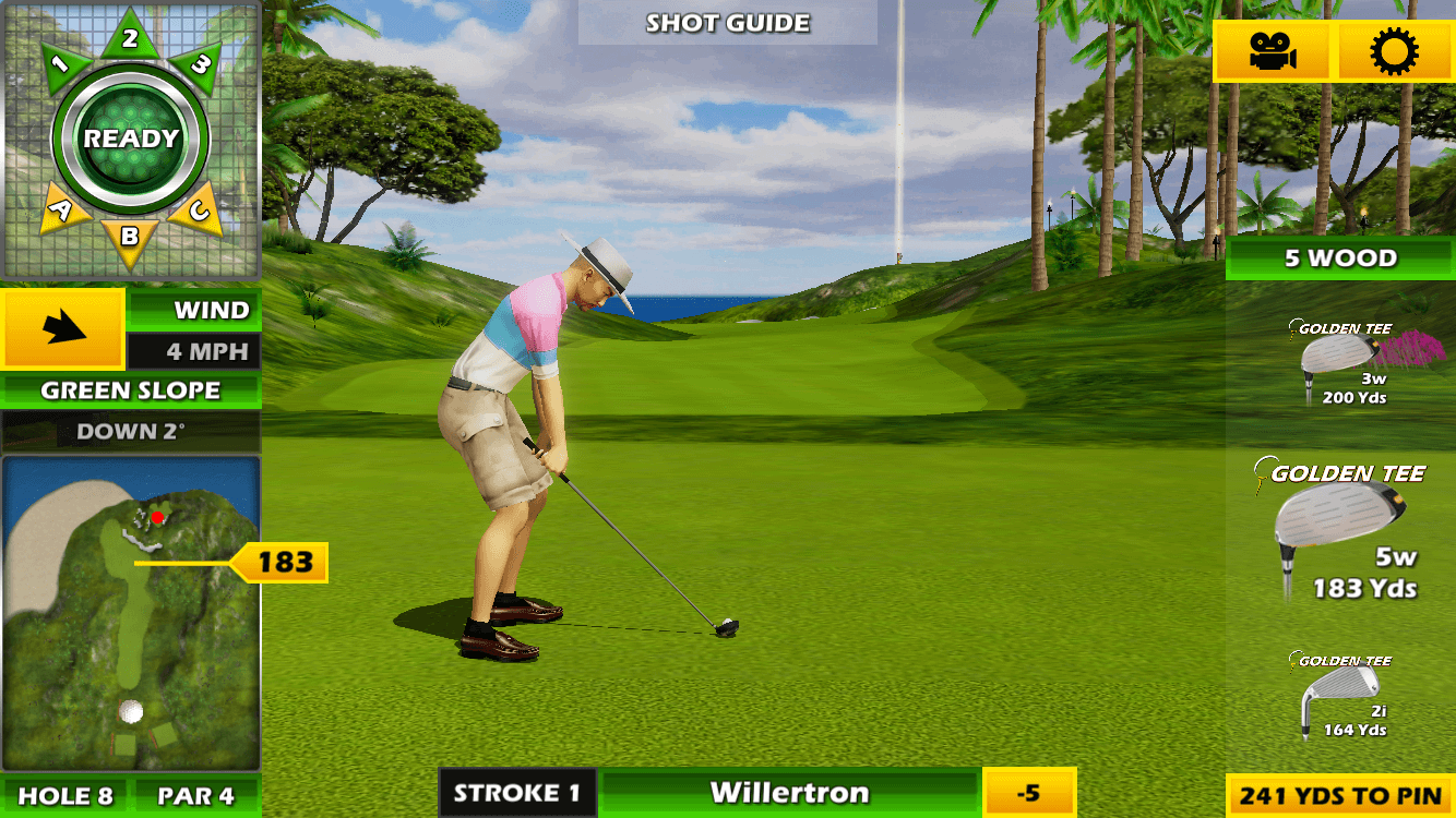 Golden Tee Golf Club Selection